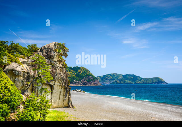Kumano, Japan at Lion Crag (shishi-iwa). - Stock Image