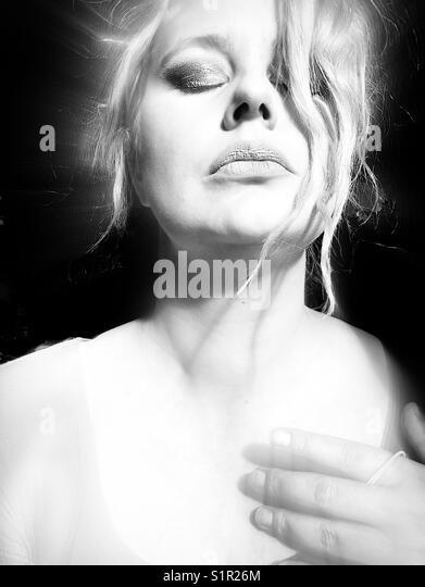 Self portrait 'enlightened' - Stock Image