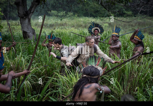 THE LOST CITY OF Z 2016  Amazon Studios film with Charlie Hunnman at right and Tom Holland - Stock-Bilder