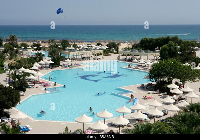 Swimming pool of Marillia Hotel, Tunisia - Stock Image