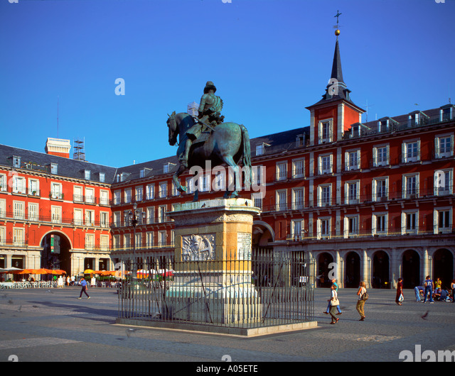 Spain Madrid Plaza Mayor - Stock Image