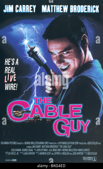 THE CABLE GUY -1996 POSTER - Stock Image