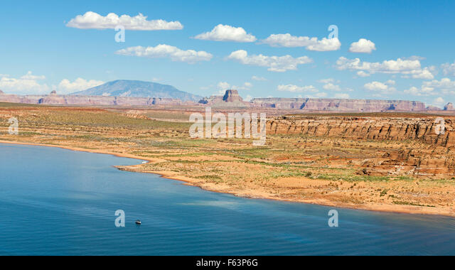 Panoramic picture of Lake Powell in Arizona, USA. - Stock Image