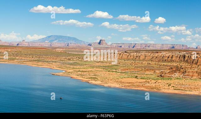 Panoramic picture of Lake Powell in Arizona, USA. - Stock Image