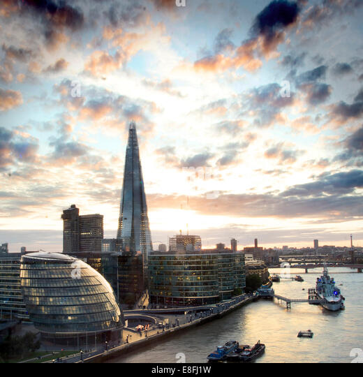 City skyline, London, England, UK - Stock Image