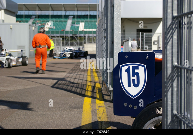 French racing driver of Renault Formula 1.6L, Maxime Raphoz, just finished his race during World Series by Renault - Stock Image