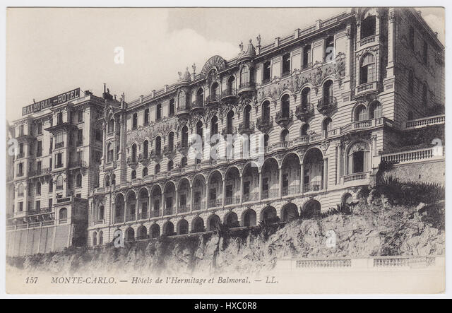 Hotels Hermitage & Balmoral, Monte-Carlo, Monaco - Stock Image