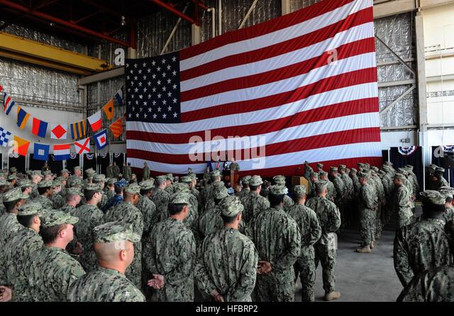 120801-N-LW591-004  VIRGINIA BEACH, Va. (Aug 1, 2012) Cmdr. Blane T. Shearon, commanding officer of Coastal Riverine - Stock Image