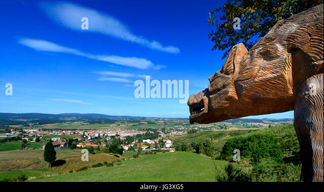 Beast head stock photos beast head stock images alamy for Zoo haute loire