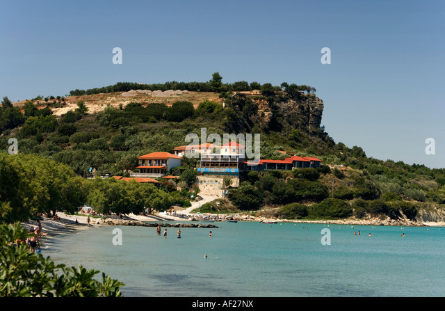 Greece Zakynthos Island Limni Keriou beach - Stock Image