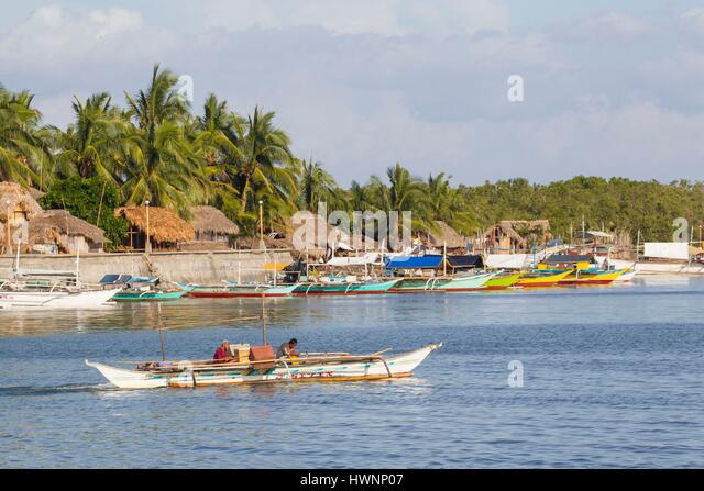 Philippines, Luzon, Sorsogon Province, Donsol, fishermen village - Stock-Bilder
