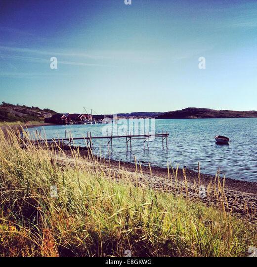Sweden, Landscape near lake - Stock Image