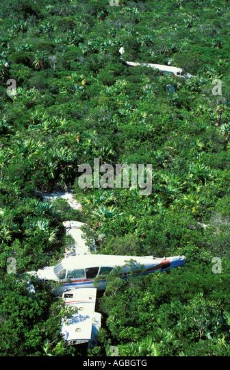 Bahamas Bimini Crashed airplanes - Stock Image