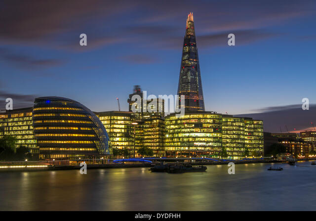 A view towards City Hall and the Shard. - Stock-Bilder