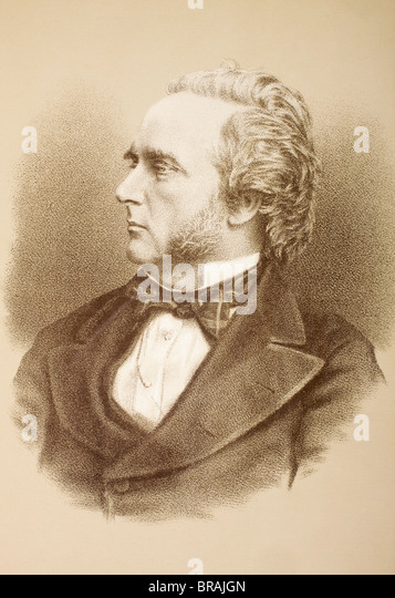 George John Douglas Campbell, 8th Duke of Argyll, 1823 – 1900, styled Marquess of Lorne until 1847. Scottish peer. - Stock Image