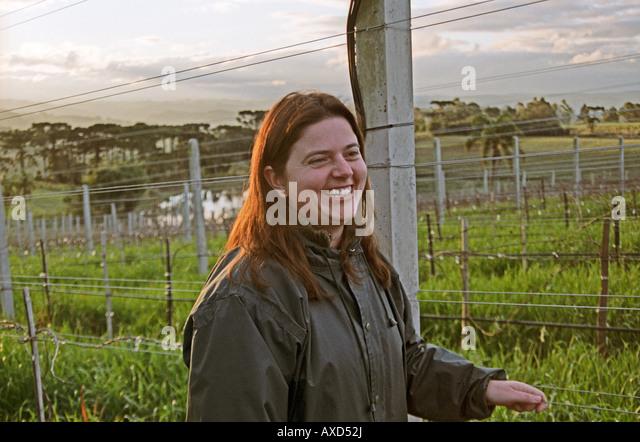 Roberta Boscato, winemaker at Boscato Industria Vinicola in Nova Padua, Serra Gaucha, Brazil - Stock Image