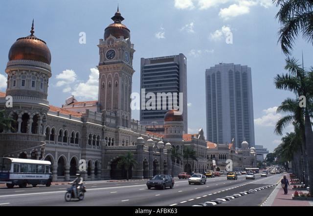 Malaysia Kuala Lumpur Sultan Samed Building traffic skyscraper office buildings - Stock Image