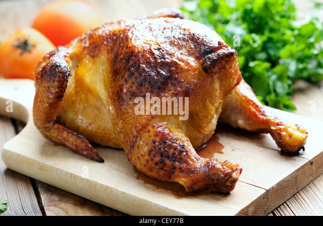 roast chicken dinner - Stock-Bilder
