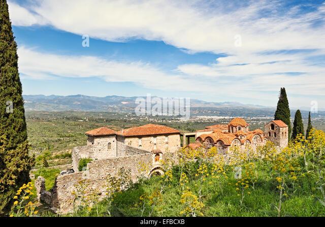 The church of Saint Dimitrios (Metropolis) in Mystras, Greece - Stock Image