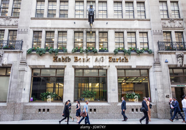 Habib Bank AG Zurich building on Moorgate, City of London, UK - Stock Image