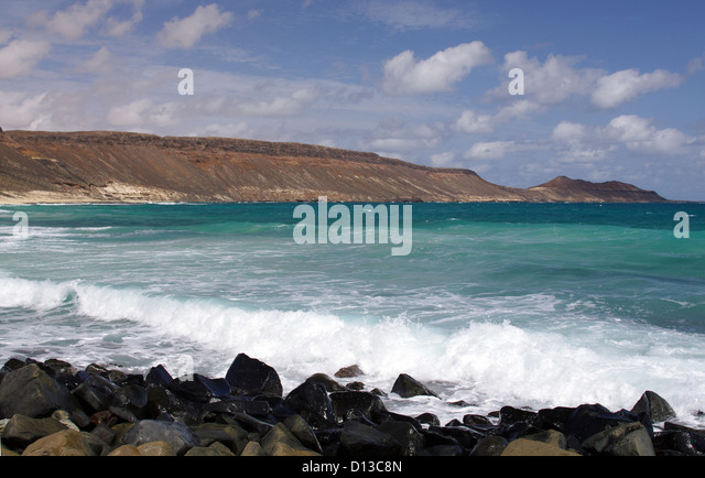 Serra Negra Beach - Sal Island, Cape Verde - Stock Image
