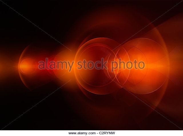 Abstract red circles - Stock Image