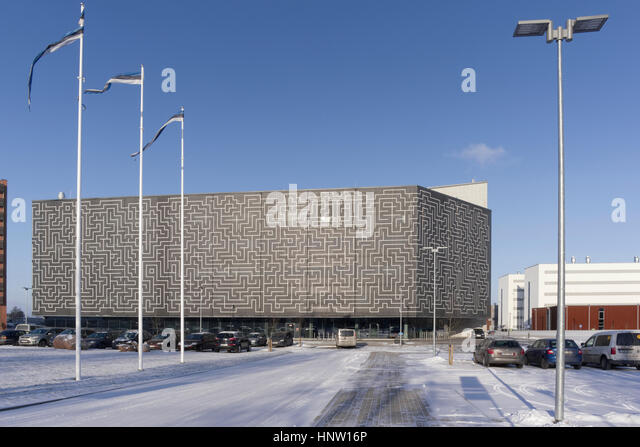 The new main building of the National Archives of Estonia, named Noora. Nooruse 3, Tartu - Stock Image