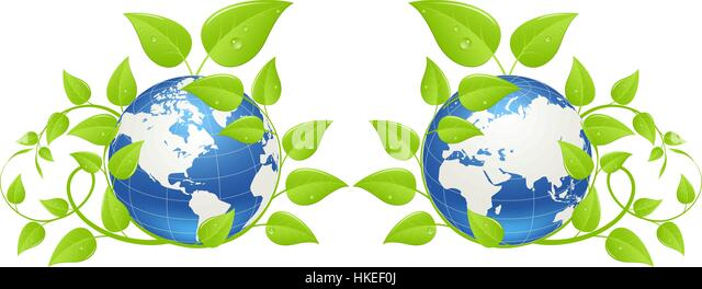 Earth day icon - Stock Image