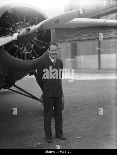 James Mattern, noted aviator, 1934 - Stock Image