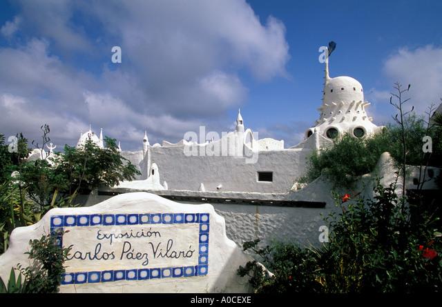 Uruguay South America Punta del Este Club Hotel Casapueblo - Stock Image