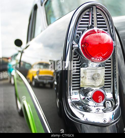 Classic American Car Tail Light Stock Photos & Classic