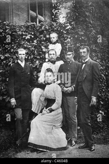 Archduke Ferdinand Karl, Archduke Franz Ferdinand, Archduke Otto, 1913 - Stock Image