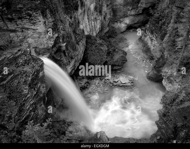 Stanely Falls, Beauty Creek, Jasper National Park, Aberta Canada - Stock Image