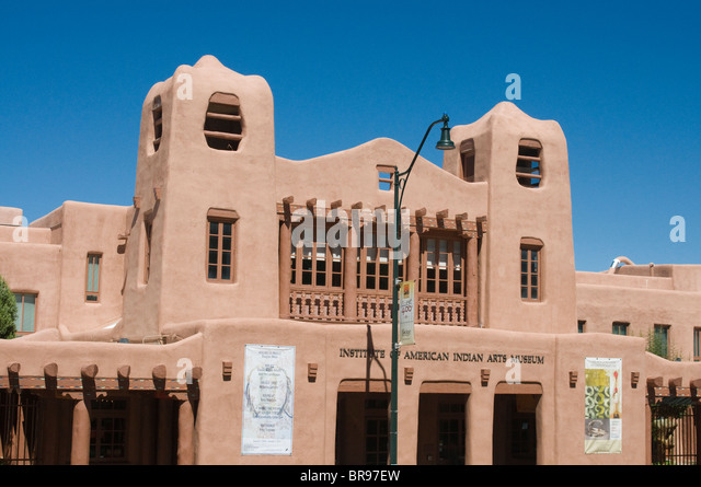 American Indian Arts Museum Santa Fe New Mexico - Stock Image