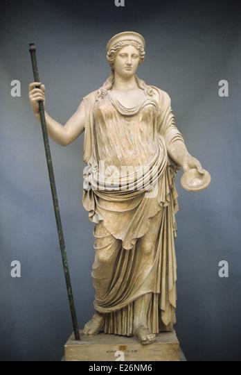 Roman art,juno,hera bourgeois,Vatican Museums,Rome - Stock Image