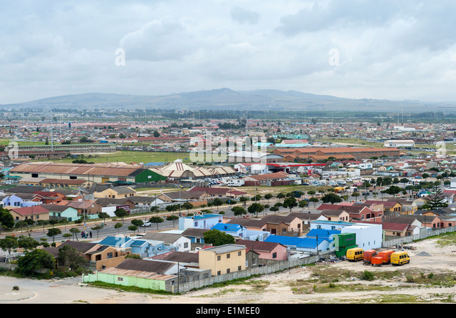 Panoramic view over Khayelitsha township, Cape Town, South Africa - Stock-Bilder