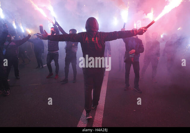 Kiev, Ukraine. 14th Oct, 2016. ''March of the Nation'' was held in Kiev © Nazar Furyk/ZUMA - Stock Image