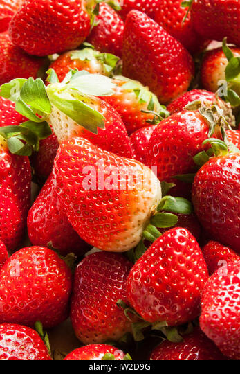 strawberries texture background - Stock Image