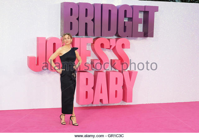 London, Uk. 6th Sep, 2016. American actress Renée Zellweger poses during world premiere of Bridget Jones's - Stock Image