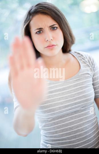 Angry woman - Stock Image