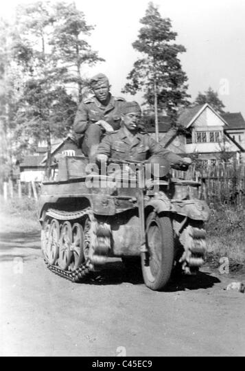 Kettenkrad (half-track motorcycle) in Russia - Stock Image