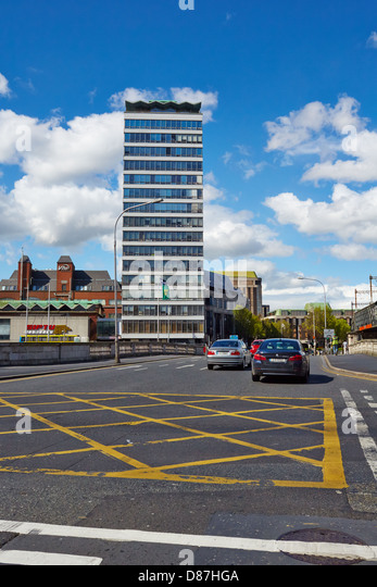 Liberty Hall Building, St George's Quay, Dublin, Ireland - Stock Image