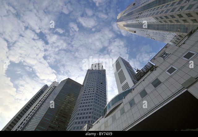 Singapore Skyscrapers - Stock Image