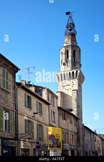The church tower of the convent of the Augustins, Avignon, Provence, France. - Stock Image