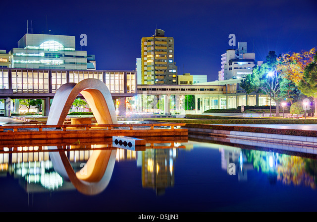 Hiroshima Peace Memorial Park in Hiroshima, Japan. - Stock-Bilder