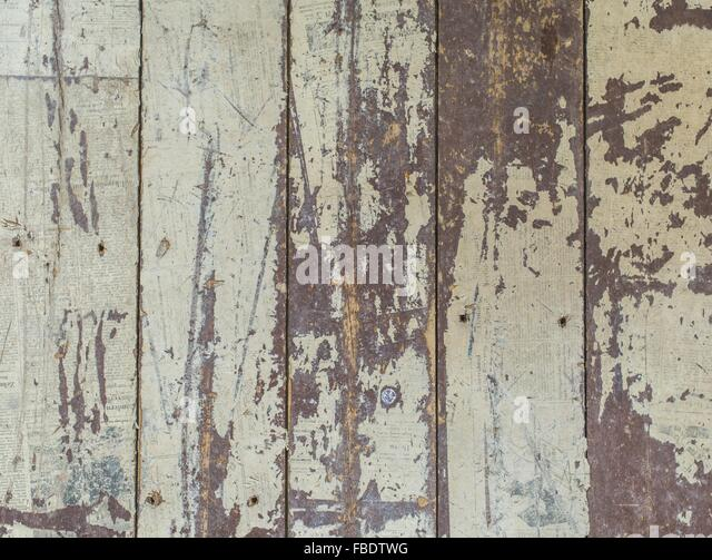 Full Frame Shot Of Cream Colored Wooden Wall - Stock Image