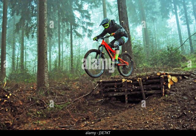 Downhill Trail, Thuringian Forest, Germany - Stock-Bilder
