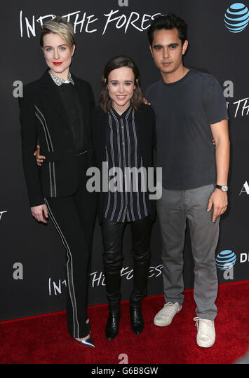 Hollywood, CA, USA. 22nd June, 2016. 22 June 2016 - Hollywood, California - Ellen Page, Evan Rachel Wood, Max Minghella. - Stock Image