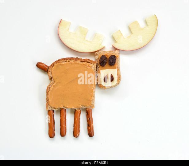 Moose food art - Stock Image