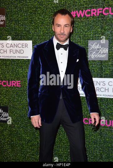 Los Angeles, California, USA. 16th February 2017. Designer/director Tom Ford at the arrivals for 'An Unforgettable - Stock Image